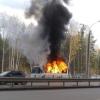 На дублёре улицы Краснолесья сгорел автобус