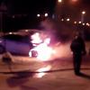 На улице Краснолесья снова горят машины