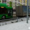 На Мехренцева газель на час заблокировала движение общественного транспорта