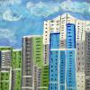 Юные художники из Академического нарисовали дворы и дома своего района