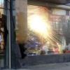 Неизвестные вымазали битумом фасад детского центра на бульваре Академика Семихатова