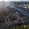 На вырубленном участке Берёзовой рощи заливают фундамент жилого дома