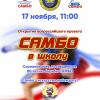 Второй турнир по борьбе самбо в Академическом пройдёт 17 ноября