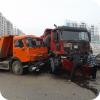 Двойное ДТП с участием грузовиков