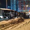 На дублёре улицы Краснолесья Газель врезалась в припаркованные автомобили и перевернулась
