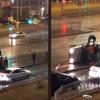 На проспекте Акадмика Сахарова автомобиль снёс ограждение и перевернулся на бок