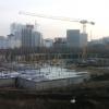 На площадке образовательного центра между Академическим и Широкой Речкой возведён фундамент