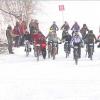 В валенках и двух парах перчаток велосипедисты Академического обогнали соперников
