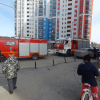 Устанавливается причина пожара в подъезде дома на Краснолесья