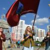 Гимн России и танцевальный флешмоб: в Академическом открылась студенческая стройка