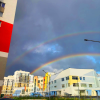 Радуга на радуге: в Академическом заметили природное чудо