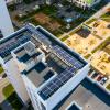 В Академическом на крыше дома установили солнечные батареи