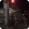 Водитель сломала светофор на кольце