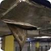 Ручьи с потолка в паркинге