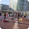 Занятия по йоге на свежем воздухе