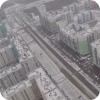 Первый снег в Академическом с высоты