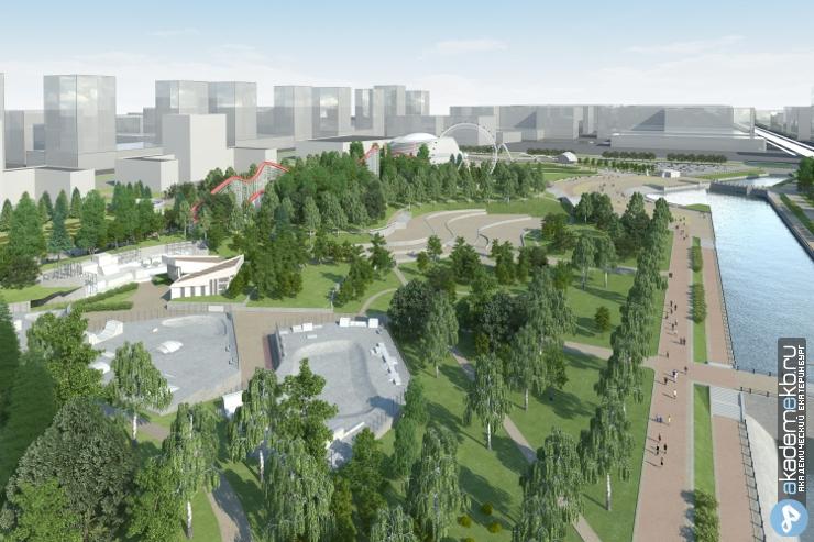 Академический район Екатеринбург Утвержден эскиз Преображенского парка в Академическом