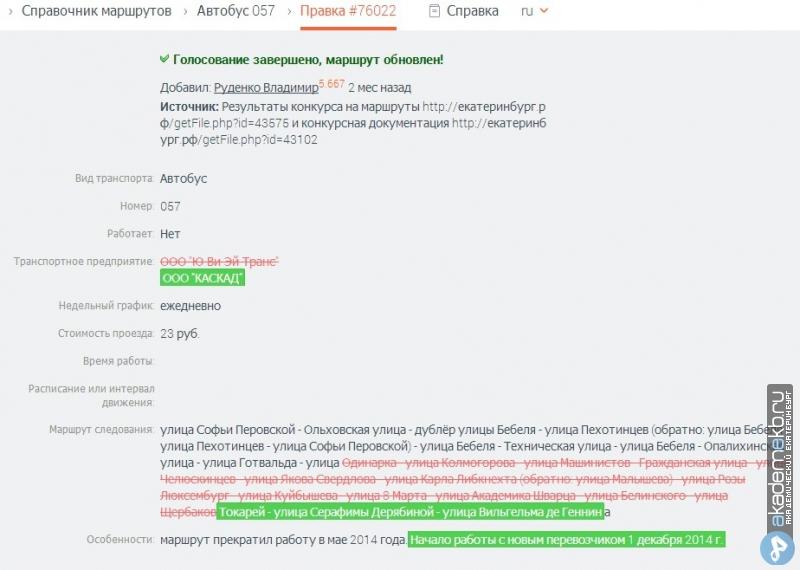 Екатеринбург Новый маршрут