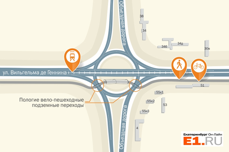 Академический район Екатеринбург Из Академического на Юго-Запад проложат вело-пешеходный тоннель