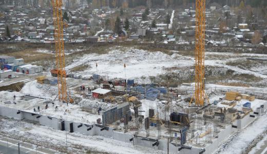 Цокольный этаж ЖК «Рябиновый» построен