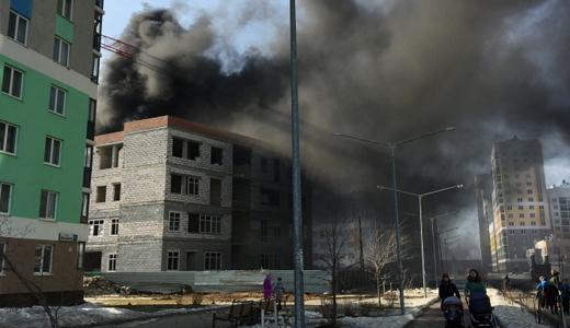В пятом квартале горела строящаяся вторая очередь школы № 23