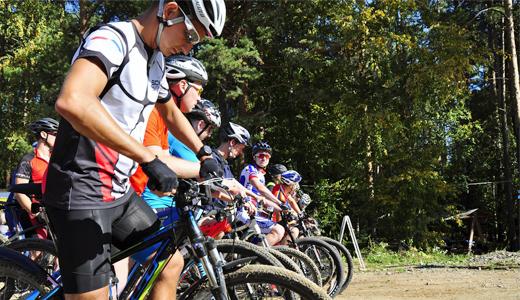 В Юго-Западном лесопарке прошла велосипедная гонка седьмого этапа «AkademMan»