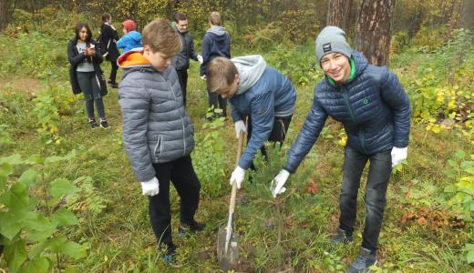 Посадили деревья и очистили парк от мусора — В Юго-Западном лесопарке прошла массовая акция