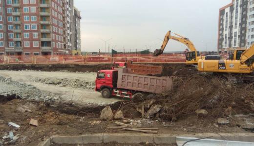 Началось строительство проспекта Академика Сахарова в сторону Амундсена