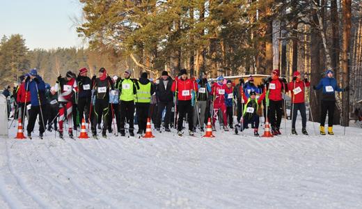В лыжных гонках второго этапа зимней спартакиады вновь участвовали более 100 человек