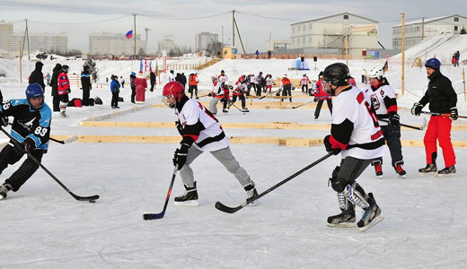 Рождественский турнир по дворовому хоккею прошёл в Преображенском парке