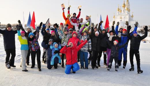Первый этап «AkademMan» стартовал 300-метровым спринтом на коньках