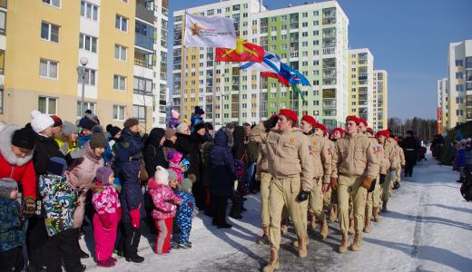 100 лет вооруженным силам России: в Академическом отпраздновали День защитника Отечества