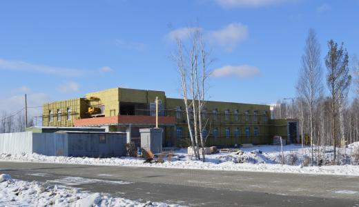 Завершается утепление коробки здания будущей подстанции скорой помощи