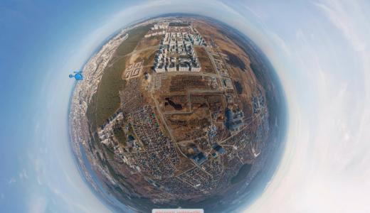 Пролетая над Академическим: посмотри на свой дом с высоты птичьего полёта