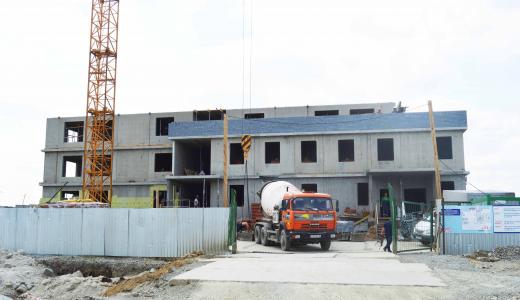 В нулевом квартале завершается монтаж коробки здания детского сада