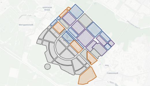 Интерактивная карта всех кварталов Академического