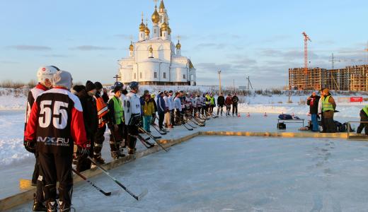 На льду пруда в Преображенском парке прошёл рождественский турнир по дворовому хоккею