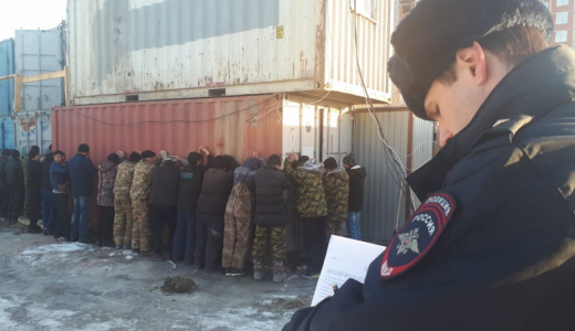 В Академическом силовики задержали мигрантов без документов