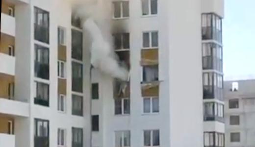 В квартире на улице Мехренцева, 46 произошли взрыв и пожар