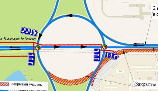 Теперь выезжаем по прямой: с 13 июля изменится схема движения на кольце Серафимы Дерябиной