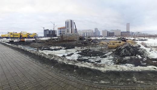На улице Рябинина разбирают бетонный завод