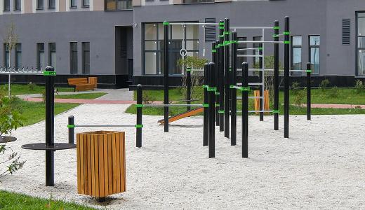 Новые площадки для воркаута появилась в 26 квартале