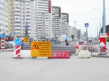 Ремонт на перекрёстке Краснолесья — Чкалова