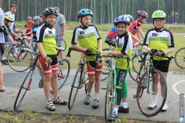 Выступление юных велосипедистов на Первенстве области по велоспорту