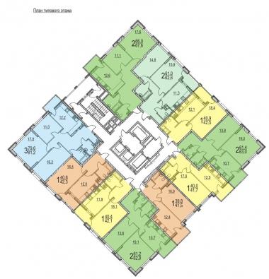 В 24-этажной высотке в блоке 1.1 открыто бронирование квартир