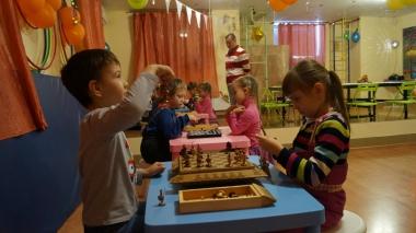 Первый турнир по шашкам среди дошколят