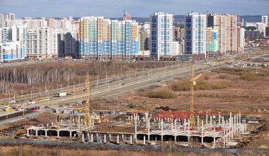 Ход строительства ТЦ «Лента»