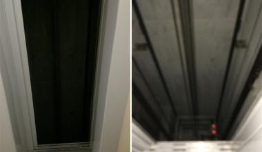 В доме пятого квартала двери лифта открылись в шахту