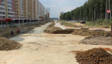 В 7 квартале продолжается строительство улицы Мехренцева