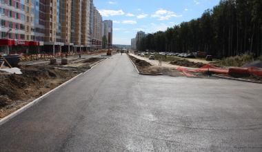 Строительство улицы Мехренцева завершится в сентябре